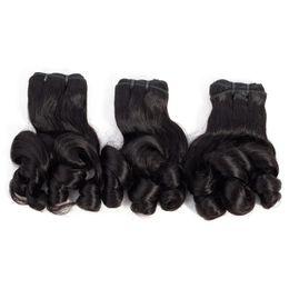 9A Feixes de Cabelo Funmi Rosa Encaracolado Brasileiro Indiano Virgem Malaio Peruano Feixes de Cabelo 10-20 polegadas Extensões de Cabelo Humano Cor Natural 3 Pcs de Fornecedores de cabelo vietnamita por atacado