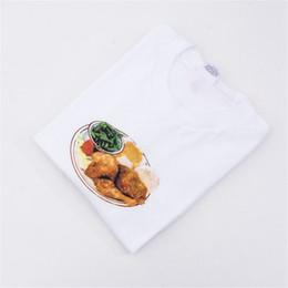 Mangia maglietta online-Mangia T-shirt di pollo Uomo Donna 1: 1a Cotone estivo di alta qualità T-Shirt O-Collo uomo casual Top Tees Eat T-shirt di pollo