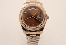 Wholesale President Ii - Luxury Fashion Watches MENS 218238 DAY DATE II Rose GOLD PRESIDENT 41MM LARGEST SIZE UNWORN White Dial Automatic Men's Watch Watches
