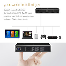 Wholesale android business - 7.1 TV Box M9 DLP Smart Mini Portable Rockchip RK3128 Projector Android 1GB 32GB DLNA Bluetooth Dual Wifi