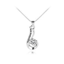"Wholesale south korean fashion - Fashion Korean Mother and Child Love ""Love Mom Forever"" Crystal Pendant Necklace Mother's Day Gifts Sweater chain Necklace for Mother"