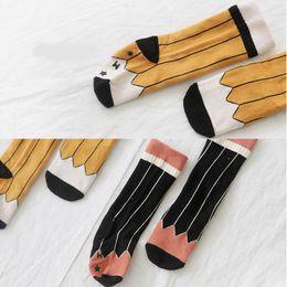 Wholesale Korea Baby Boy - Baby Kids Pencil Socks Mid Calf Cotton Non-slip Breathable Korea Pencil Design Infant Toddler Boys Girls 0T-4T