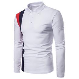 nouveaux styles de marque chemise garçon Promotion Nouvelle-Angleterre Style Rayé Designer Polo Shirt Hommes De Luxe Polo Chemises À Manches Longues Coton Polos Pour Garçons Marque Designer Polo Homme