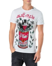 Wholesale New European - Mens Cotton t-shirts German Brand enriched crystals t shirts Ribbed collar European Alec Monopoly Short Sleeve ROUND NECK SS NEW SOUP Tee