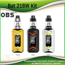 Wholesale Sub Boxes - Original OBS Bat 218W Starter Kits with Vape Bat TC Box Mod Damo Sub Ohm Tank Atomizer Vaporizer Kit 100% Authentic