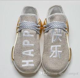Счастливый золото 2018 Фаррелл китайский пакет человеческой расы страсть персик молодежи топ Basf человеческой расы обувь мужчины женщины кроссовки от