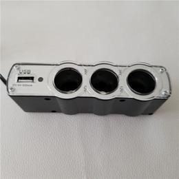 2019 convertidor de energía de encendedor de cigarrillos 1 a 3 Splitter Car 0120 encendedor de cigarrillos con adaptador de carga de energía porosa USB Convertidor convertidor de energía de encendedor de cigarrillos baratos
