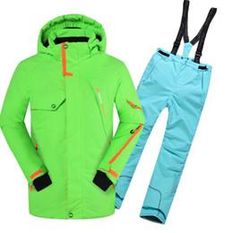 Wholesale Girl S Sport Set Kids - Wholesale- Waterproof Boys Girls Ski Jacket Suit Set Winter Snow Children Kids Ski Jacket and Pants Sport Snowboard Down Coats Hooded B