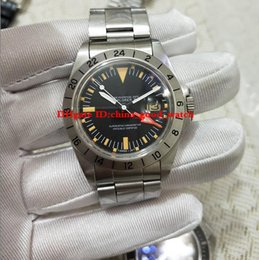 Wholesale R Modelling - BP factory Best Edition R-GMT Ref.1972 1655 model EXP LORER II stainless steel automatic belt watch with 24 hours and date display watches