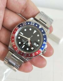 винтажные часы Скидка Высокое качество ВР завод последняя версия 1675 ГМТ Vintage Luxury Watches 40 мм черный циферблат Азии 2813 механические автоматические мужские часы