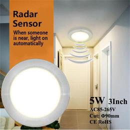 Lampada di induzione Sensori incasso LED Spotlight incasso Celing Apparecchi Illuminazione a risparmio energetico movimento umano radar per Carbarn Garage Scale da ornamenti di natale di natale di legno fornitori
