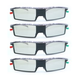 Wholesale Universal Active 3d Glasses - 4pcs Replacement GX-21AB Active Shutter Universal 3D Glasses GX-33AB For Samsung for Panasonic TCL 3D TV GX33AB