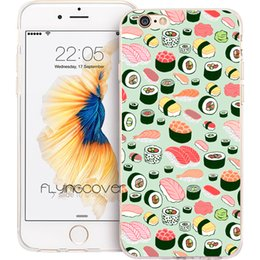 Wholesale Japanese Se - Japanese Sushi Pattern Clear Soft TPU Silicone Phone Cover for iPhone X 7 8 Plus 5S 5 SE 6 6S Plus 5C 4S 4 iPod Touch 6 5 Cases.