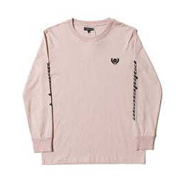 Camisas de manga comprida on-line-2018 Kanye West Calabasas Temporada 5 Emboridery Mulheres Homens manga Longa camiseta Hiphop Streetwear Homens camiseta de Algodão De Grandes Dimensões