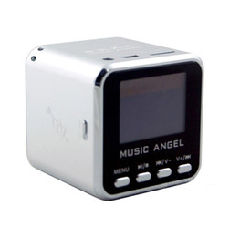 2019 computadores portáteis menores MÚSICA ANJO Mini Speaker USB Micro SD / TF HiFi Amplificador de Áudio MP3 / 4 Music Player