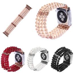 2019 perles intelligentes Pour Apple Watch Band remplacement de bracelet de montre Perle 38 MM 42 MM sangles belle briller Bijoux perles connecteur en métal pour smart perles intelligentes pas cher