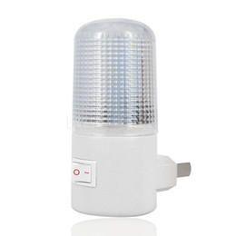 Wholesale Wall Sockets Switches - Bedroom Night Light Energy Saving Lamp 4 LED US Plug Wall Socket Lamps Mounting beside lamps low comsumption and long life-span