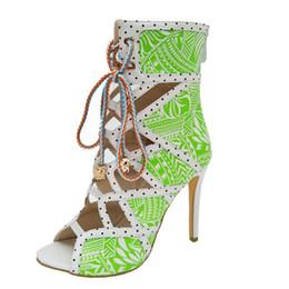 Wholesale Export Shoes - Women Sandals Party Shoes Printed High Heels Roman Sandals Mixed Colors Export Shoes Large Sandals Designer