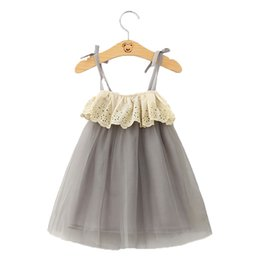 Wholesale american girl decorations - Sweet Girls Soft Tulle Dress Strapless Fashion Girls Party Children Dress Lace Decoration Party Dress Made in China