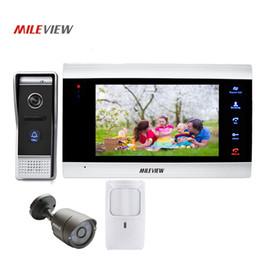 "Wholesale Pir Cctv - Free Shipping 800TVL 7"" Screen Video Intercom Door Phone Record Kit 110 View Angle Door Camera CCTV PIR Motion Detection Alarm"