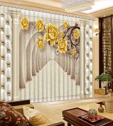 Personnaliser Photo 3D Rideaux Colonne romaine de style européen Salon Chambre Rideau occultant ? partir de fabricateur