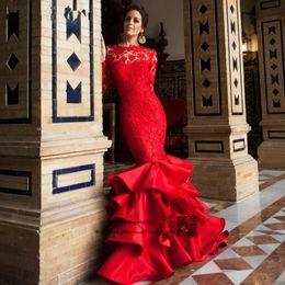 Canada Église indienne à manches longues rouge robe de mariée 2016 dentelle robes de mariée sirène dos ouvert robes de mariée robe de noiva vintage supplier bride indian dresses Offre