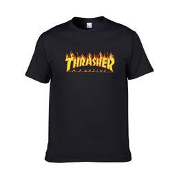 Wholesale Long T Shir - Flame TV series Men's cotton men's short-sleeved skateboard t-shirt t-shirt printing letters printed undershirt tide men t-shir