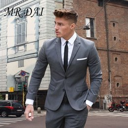 c3967eb3e9a47d MD-020 Custom made men suit terno masculino Gray costume homme For Wedding  smoking masculino Mens Suits ternos 2017