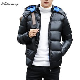 snow parkas Coupons - 2017 Winter Men's Casual Parkas Padded Jacket Coat Men Hooded Thick Warm Jaqueta Masculino Inverno Young Men Parka Fit Snow Cold