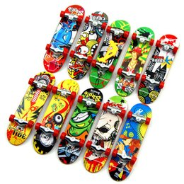 Wholesale Mini Trucks Toys - Children Toys Animation Neighboring Model Finger Board Truck Mini ABS Skateboard Playing Toys Finger Skateboards free shopping