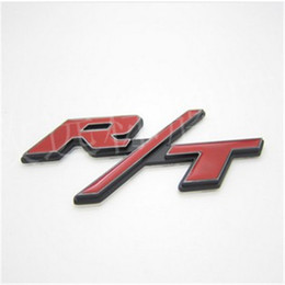 Wholesale Auto Body Tips - Auto car red R T RT for Challenger Charger Emblem Badge Sticker 30pcs