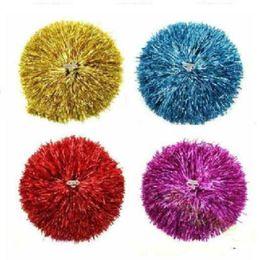 2019 materiali all'ingrosso portachiavi 50g Modish Cheer Dance Sport Supplies Concorrenza Cheerleading Pom Poms Flower Ball Illuminando Party Applausi Fantasia Pom Poms