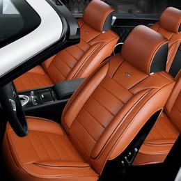 coprisedili in pelle per auto Sconti Accessori per auto Universal Fit Interni Cover per seggiolino auto Set per Sedan PU Leather Full Surround Design Coprisedili adattabili per SUV