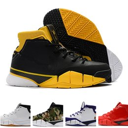 huge discount 5a8be 9bcb4 billige kobe schuhe Rabatt 2019 Günstige New Mens Weaving Kobe 1 Protro ZK1  Sport Basketball Schuhe