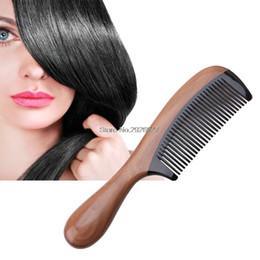 Pro Natural Ox Horn Green Sandalwood Fragrant Comb Wooden Handle Combs Hair Care-B118 cheap natural green sandalwood comb от Поставщики натуральная зеленая сандаловое дерево