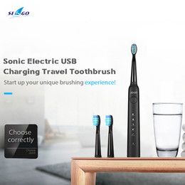 sg electric Promo Codes - SEAGO SG-949 Sonic Electric Toothbrush with Smartimer 5 Brushing Modes 3 Brush Heads USB Charging Waterproof IPX7 Tooth Care C18111501