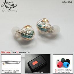 Monitor fedex online-Hisenior B5 + 5 10BAs Universal Fit Balanced Armature Monitor In-Ear IEM Cancelación de Ruido Auriculares Personalizados DHL / FEDEX Envío Gratis