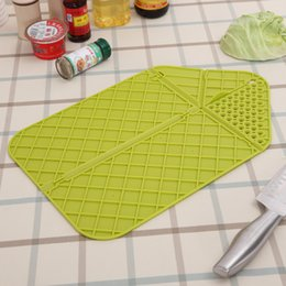 Wholesale Wholesale Kitchen Cutting Boards - Multi Function Plastic Cutting Board Safety Non Slip Chopping Blocks Practical Foldable Kitchen Cooking Tools Green Orange 4 9rh Y
