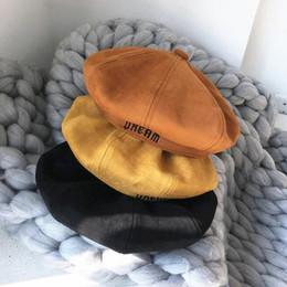 imitación de gamuza boina niño invierno joker calabaza sombrero mujeres  para restaurar formas antiguas recreación pintor tapa comodín niño baratos cba9ec74d03
