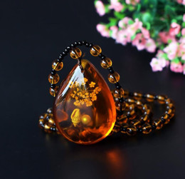 Wholesale Necklace Brazilian - beeswax necklace jewelry Brazilian amber necklace for men and women fine imitation of wax pendants handicrafts national wind ornaments.