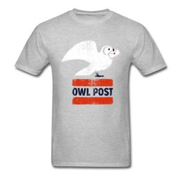 Camiseta búho online-Owl Post Airmail T-shirt Hombres One Piece Clothes Summer T-shirt Cotton Tops Vintage Graphic T-Shirts Cartoon T-shirt