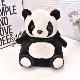Wholesale Toy Compartments - Boys Cute Soft Panda Backpacks Kids Gift Kindergarten Plush Schoolbags Children Toys Teenager Girl Double Shoulder Bags
