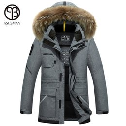 Wholesale Winter Man Goose Down Parka - Wholesale-Asesmay 2017 new arrival brand clothing white duck down jacket high quality men winter coat warm parka goose feather casual coat