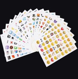 2019 artisanat de feuille à la main 2017 Emoji Autocollants Pack-Instagram 20 Pcs beaucoup autocollants Téléphone Instagram Belle Mignon Stikcers Faciales Emoji fournit populaire mode b08C