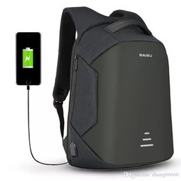 Wholesale new phone 16 - 2017 New USB Charge Men Anti Theft Travel Backpack 16 Inch Laptop Backpacks For Male Waterproof Backpacks Bags Wholesale