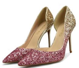 Canada Femmes chaussures à talons hauts en daim pompes sculptées talon en métal pointu chaussures de mariage 9colors drop lady cadeau de noël d'expédition Offre
