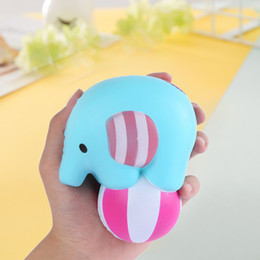 Wholesale elephant ball - Cute Elephant Play Ball Squishy Scented Decompression Toys Squishies Animal Slow Rebound Squeeze Toy For Kid Gift 15mz C