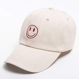57e60f11e43 Women s Chic Emoji Smile Face Baseball Cap with Embroidery Hip Hop Snapback  Cute Hats Beige Yellow Black
