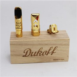 Wholesale Alto Sax Mouthpieces - New Arrival Upgraded Version Dukoff Sax Professional Mouthpiece Alto  Tenor Metal Surface Gold Plated No 5-8 Saxophone Mouthpiece
