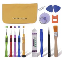 Kit d'outils premium en Ligne-15in1 Premium Ouverture Pry Outil De Réparation Kit Titane Alliage Tournevis Ensemble Pentalobe Torx Y Pour 6S Carte Mère Hexagone Tournevis pour iPhone
